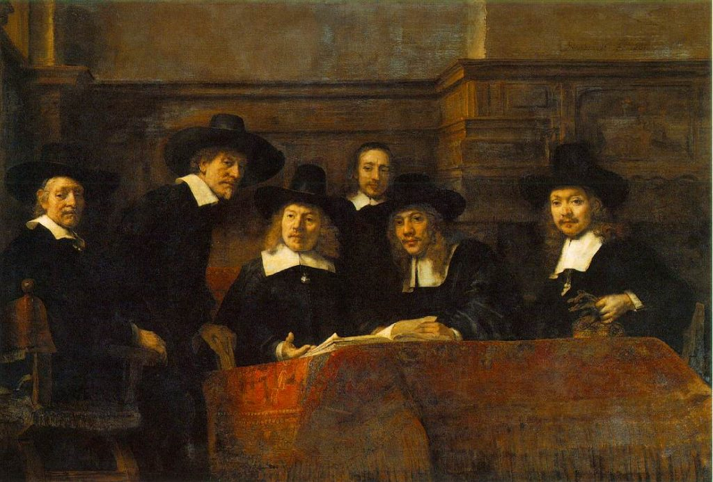 De staalmeesters van Rembrandt van Rijn - Stichting Vrienden Museum Kasteel Wijchen
